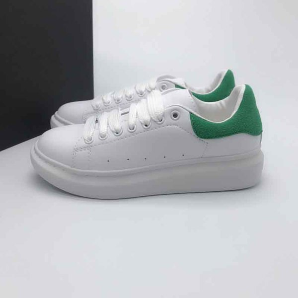 white green suede