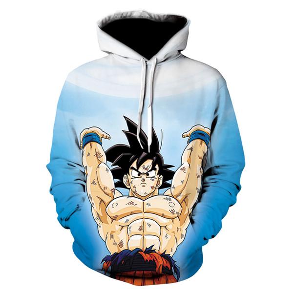 Japonya anime Z hoodie Goku kadın Erkek 3D Baskılı Tişörtü Dragonball Z Son Goku coats kostüm ceket