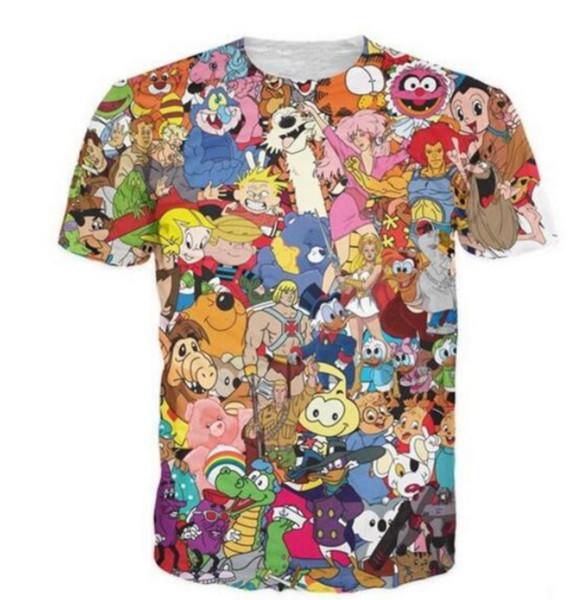 Acheter 2019 Nouvelle Mode Totalement Des Années 80 T Shirt Jem Et Les Soins Hologrammes Ours Thundercats Alvin Les Chipmunks Caractère T Shirt De