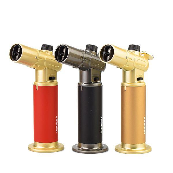 New Metal Jet Lighter Butano Torch Flame Lighter Accendino da cucina a gas accendino accendini antivento migliore regalo per gli uomini