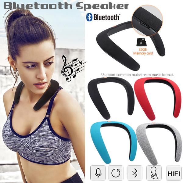 Drahtloses Bluetooth Tragbarer MP3-Player Hals Neuheit Bluetooth Tragbarer Lautsprecher Subwoofer Magischer Bluetooth-Sportlautsprecher 11.11
