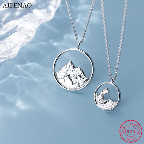 Women Silver Hollow Round Mountain Shape Fashion Necklace Pendant Chain Gift