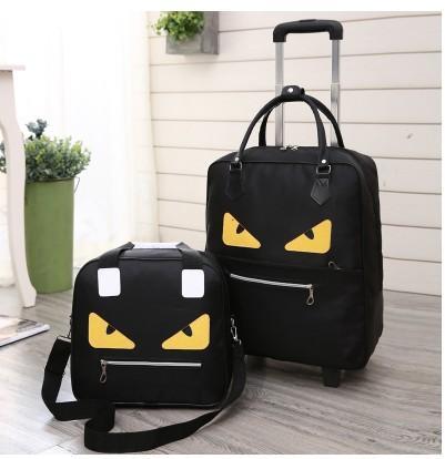 Série de bagages CALUDAN 16/18 taille embarquement sac à main + valise à roulettes Spinner marque valise de voyage