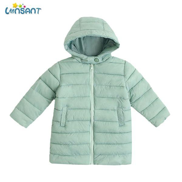 LONSANT Baby Girls Boys Parka Light Kids Jacket Hood Down Coat Winter Children Jacket Spring Fall Toddler Outerwear N30