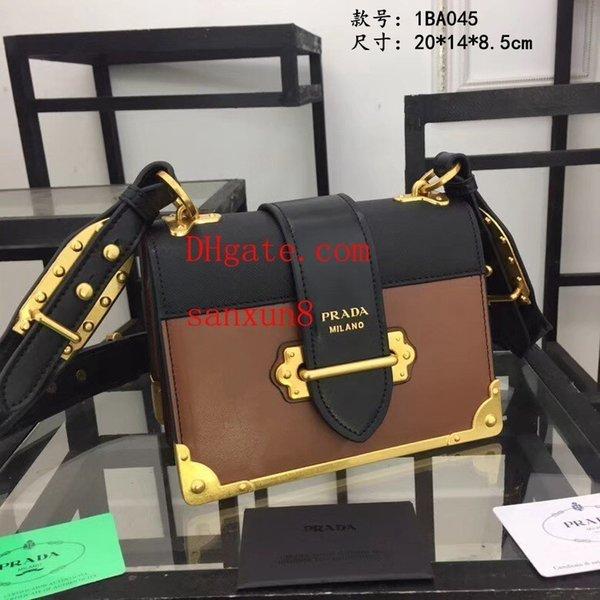 Женская сумка 2019 новая мода контраст цвет прилив дамы сумки простой плечо диагональ пакет металлический стиль