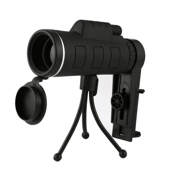 NUEVO 40X60 Telescopio monocular Gran angular HD Visión nocturna Prisma Alcance con brújula Teléfono Clip Trípode Telescopio portátil al aire libre