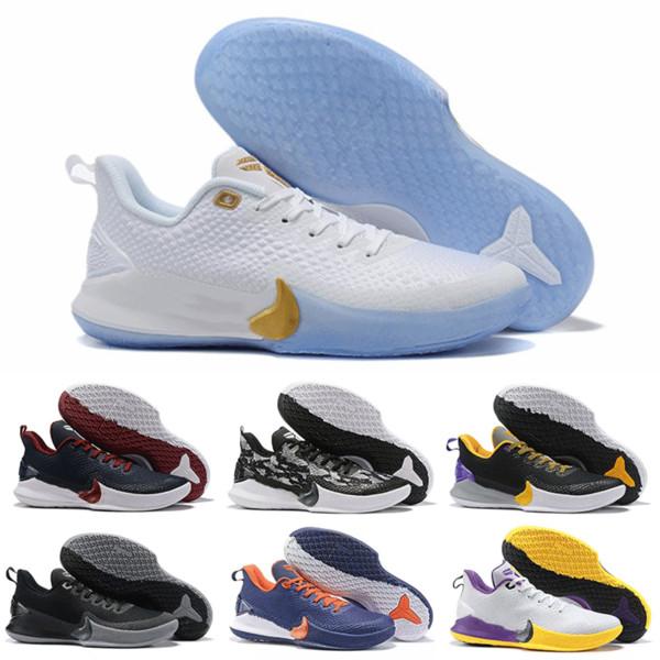 Compre Alta Calidad 2019 Baratos Para Hombre Kobe Mamba Focus EP Zapatos De Baloncesto Negro Blanco Athletic Diseñador Zapatillas De Deporte De