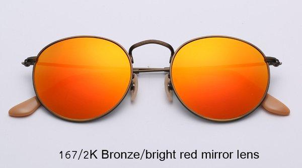167 / 2K Bronze / leuchtend rote Spiegellinse