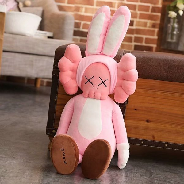 Wholesale KAWS Brian VOGUE 45CM Sesame Street Kaws Pink Long Ears BFF Plush Doll Toy Birthday Gift For Child Kids Party Favor Rabbit