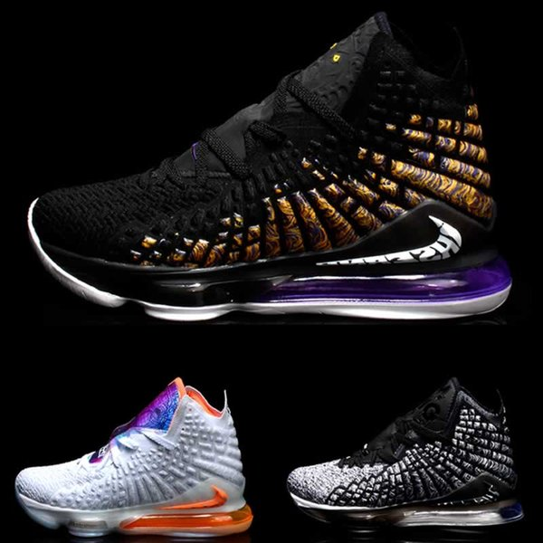 top popular Cheap Lebrons What the XVII 17 basketball shoes for mens lebron 17s Media Day james MVP BHM Oreo sneakers LBJ 17 Sports shoes 2020