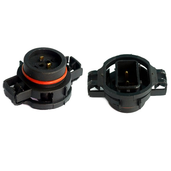 LEEWA 10pcs Car H16/5202/2504/PSX24W Bulbs Male Connector For Fog Lights Holder Plug #1865