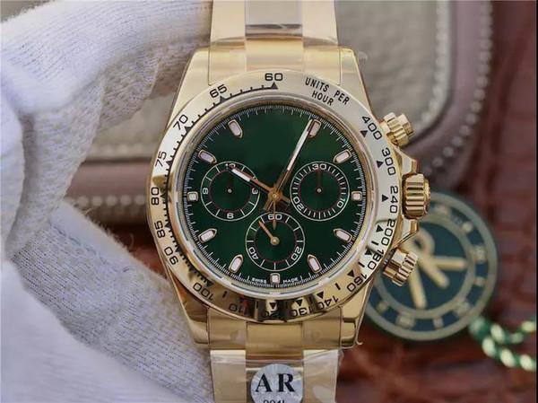 Все золото 116508, позолоченный корпус и толщина захвата механизма, чтобы достичь того же, что и подлинное сапфировое зеркало, мужские часы