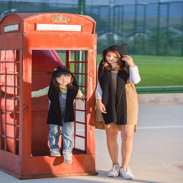Fashion Baby Kids Photography Prop Cap Boys Girls Knit Crochet Hat Children Scarf Hat Cute Design for Keep Warm
