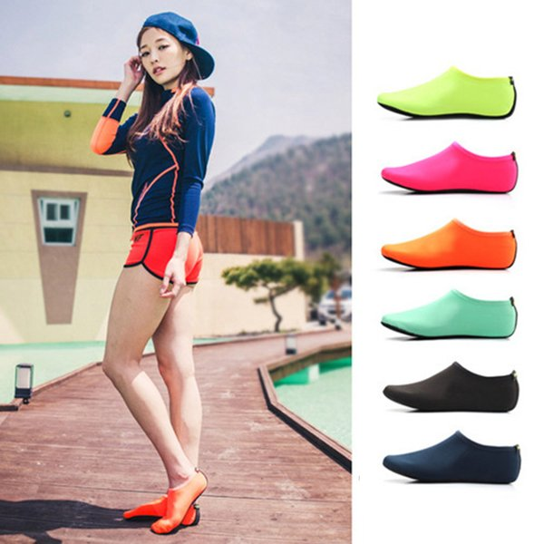 Colorful Summer Women's Water Socks Shoes Outdoor Beach Aqua Slippers For Woman Slip-On Surfing Sandals Sandalias Slides