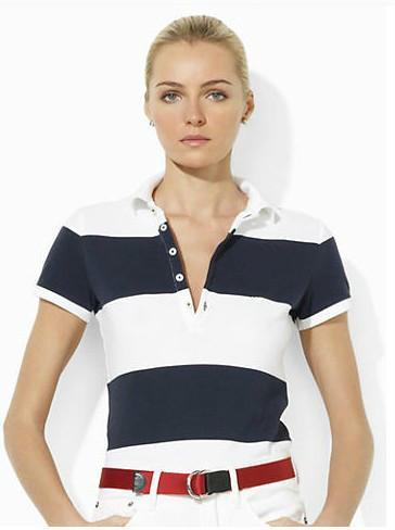 P Polo da donna Stile Estate Moda big Cavallo Ricamo donna Polo polo Cotone Slim Fit Polo Top Casual camicie estate
