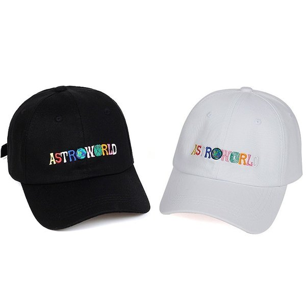 18FW ASTROWORLD Hat letter Embroidered Cap Flat Tongue Adjustable Skateboard Cap Hip Hop Men Women High Quality Hat HFWPMZ004