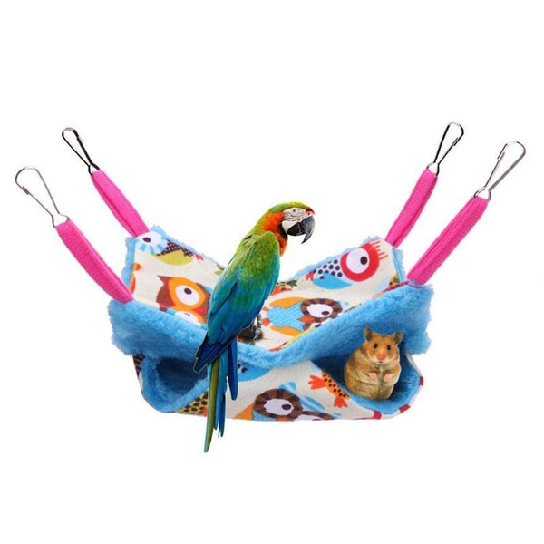 Warm Pet Hammock Squirrel Hanging Bed House Mat Hamster Blanket Nest For Rat Small Animal Cage House Pet Toys