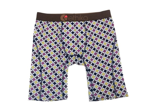 New Ethika Peacock Man//Woman Long Boxer Underwear Sports Short Pants US Size S