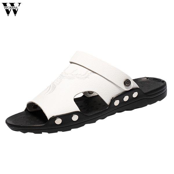 Hommes Chaussures Pantoufles Casual Sandales Manches Bout Ouvert Chaussures Hommes Pantoufles Confortables Plage Différente Male Casual