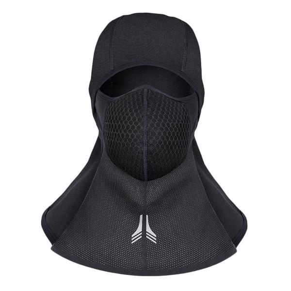Cofre unisex Reflexivo Cuello extendido Cálido Respirable Con cremallera Negro Ciclismo, Esquí Sí Ciclismo 126 g Máscara