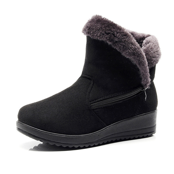 TIMETANG Winter Women Boots Mid-Calf Down Boots Female Waterproof Ladies Snow Boots Girls Winter Shoes Woman Plush Insole Botas