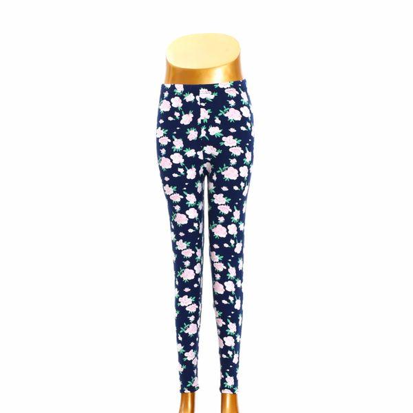 S108-1815 Hot Sale 2019 Printing Flower Leggings Leggins Plus Size Legins Guitar Plaid Thin Pant Fashion Women Aptitud Trousers