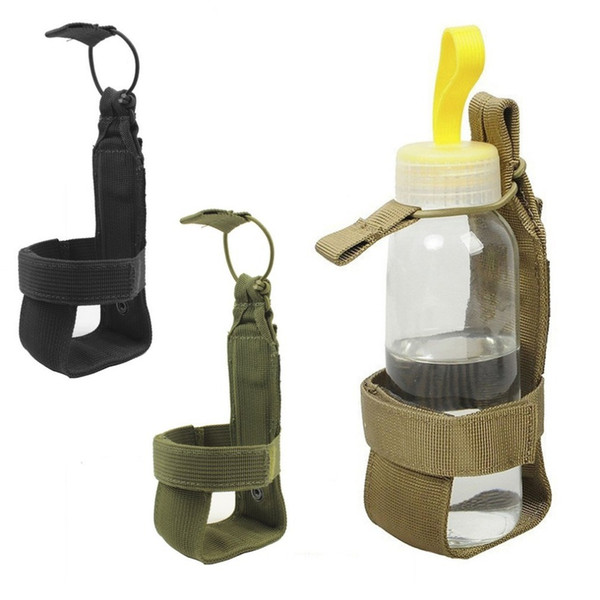 10*7cm tactical water bottle pouch men women nylon adjustable magic tape camping hiking kettle bag outdoor tool thumbnail