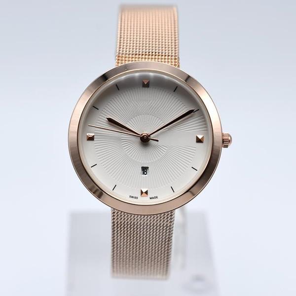 2019 Классическая модель Фирменные женские часы класса люкс из нержавеющей стали Кварцевые часы Дизайнер Стиль популярных современных женщин Часы высокого качества горячего надувательства