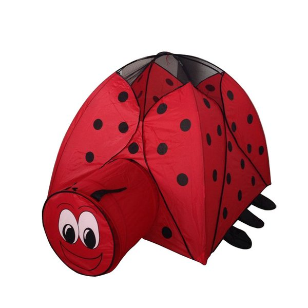 summer Indoor outdoor Very cute catoon Lady beetle cloth castle House tent child park picnic holiday game play tent baby toy