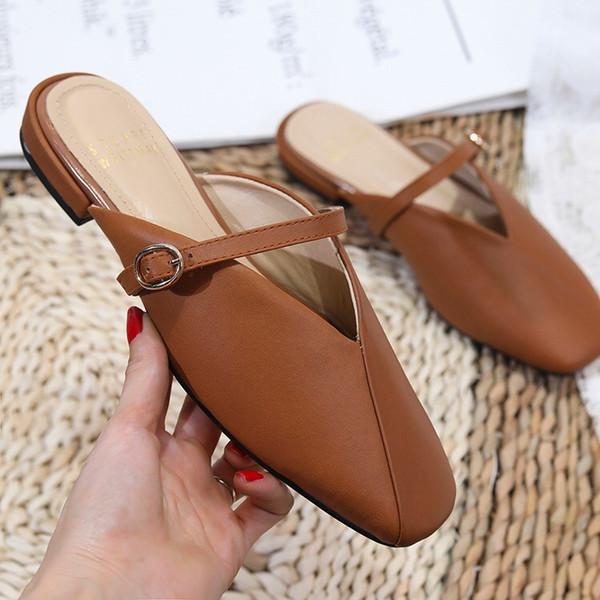 Neues Angebot Nähen Sandalen Single Strip Ledersandalen schöne Form exquisite Handwerk Hausschuhe mit Höhe 1,5 cm # b310