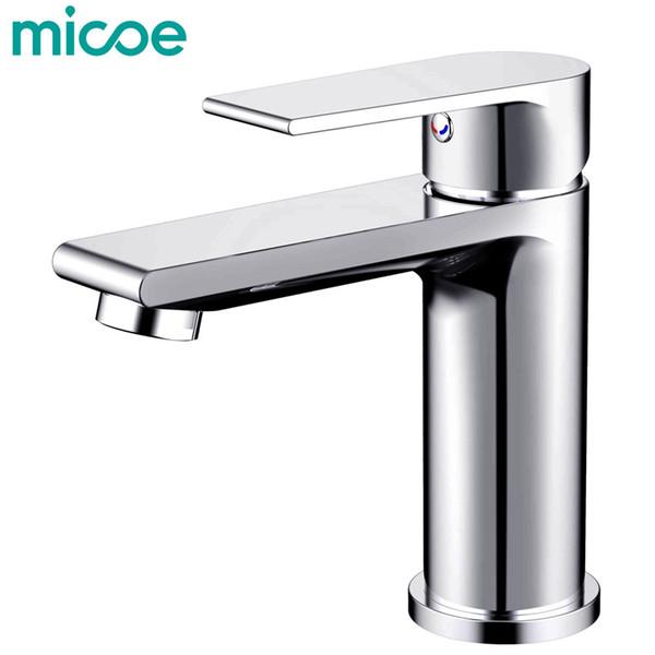 Acheter Micoe New Basin Faucet Faucet Taps Robinet Salle De Bains Lavabo  Lavabo Pont Mitigeur Surmonté Chrome Laiton Salle De Bains Robinetterie H  ...