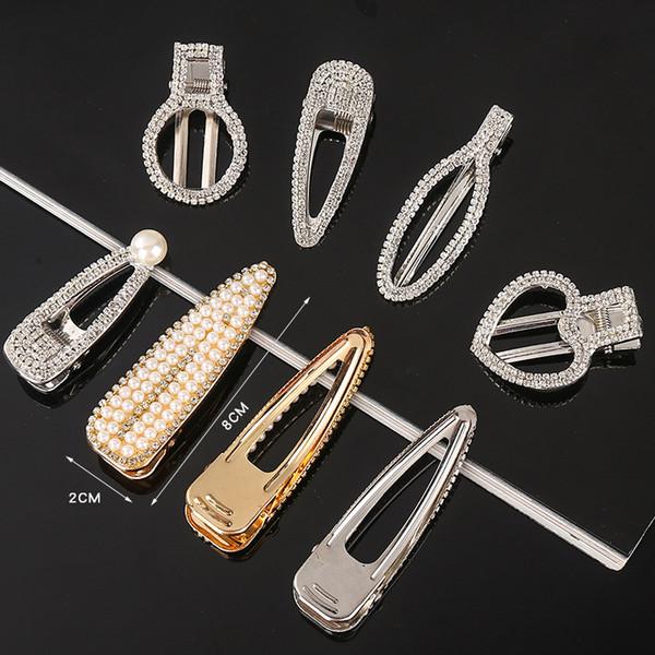 Cristal Barrettes Barrettes Barretts pour les femmes simple canard clip un mot bouche cheveux Pincer Accessoires cheveux Bijoux pour les filles 0002HC