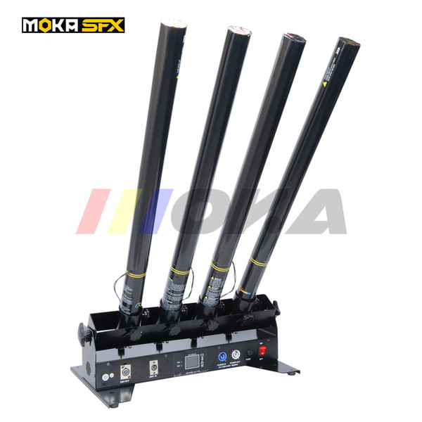 best selling New 4-shot Confetti Cannon DMX Confetti Blower Confetti Shooter Stage Effect For Wedding Birthday Party Concert