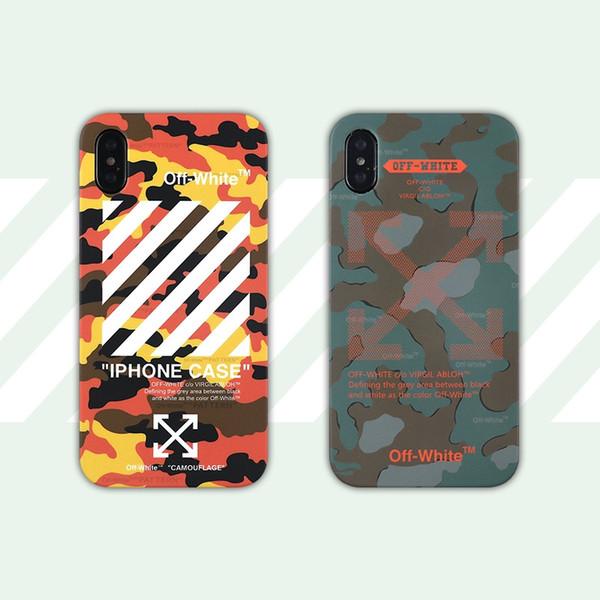 Nuevas fundas de teléfono de diseñador de lujo para iphone Xs max fashion Camouflage off y funda de teléfono blanca para iphone X Xr 7 7plus 8 8plus