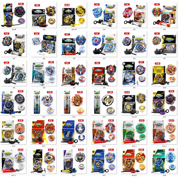 best selling 36 models Beyblade fidget spinner Beyblade burst Beyblades Metal Fusion Arena 4D bey blade Launcher Spinning Top Beyblade Toys For kids toy