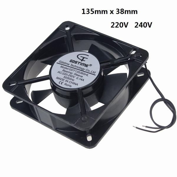 1 шт. Gdstime 2 Провод без разъема 220 В 240 В 135 135x38 мм Металлический вентилятор охлаждения 13 см