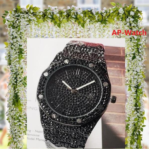Luxury Italy Full Diamonds Stainless Steel Watch VOLARE Women men 42mm Business Quartz Watch wristwatches