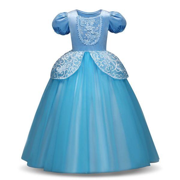 Mignon Cosplay Princesse Robe À Manches Longues Fille Costume Cendrillon Rapunzel Party Dress Filles Vêtements Vestidos Infantis