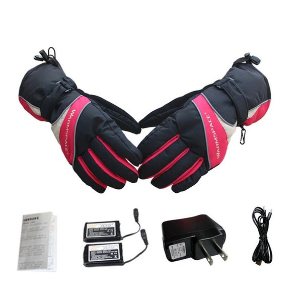 Перезаряжаемые нагретые перчатки 6 часов высокой изоляции USB электрический зима водонепроницаемый дышащий тепловой с подогревом перчатки Мужчины Женщины