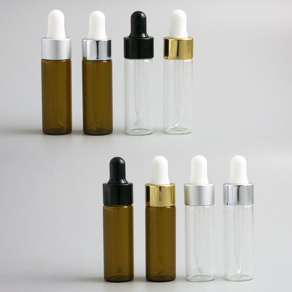 300 x Travel Empty 10 15ml Portable glass essential oil drop bottle 1/2oz glass e-liquid dropper vials container