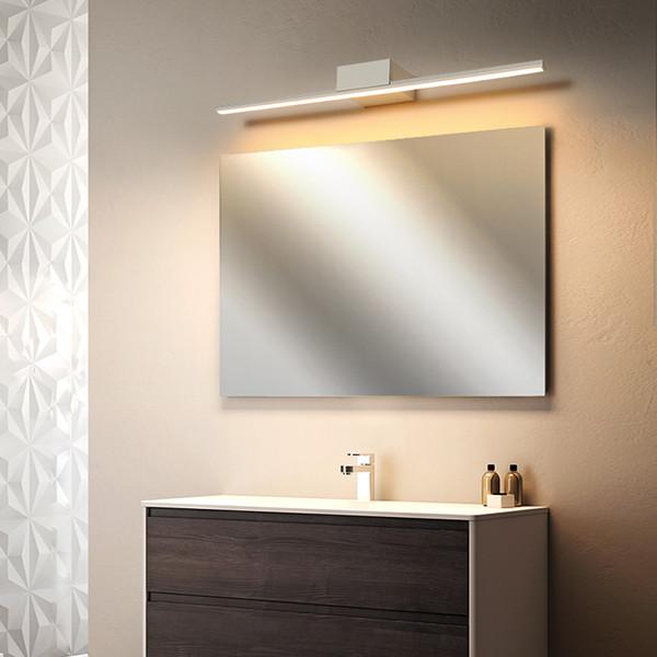 Preto / branco Modern levou luz do espelho levou Lâmpada de Parede mesa de Vestir luz do banheiro de alumínio parede Quarto lâmpada AC90-260V
