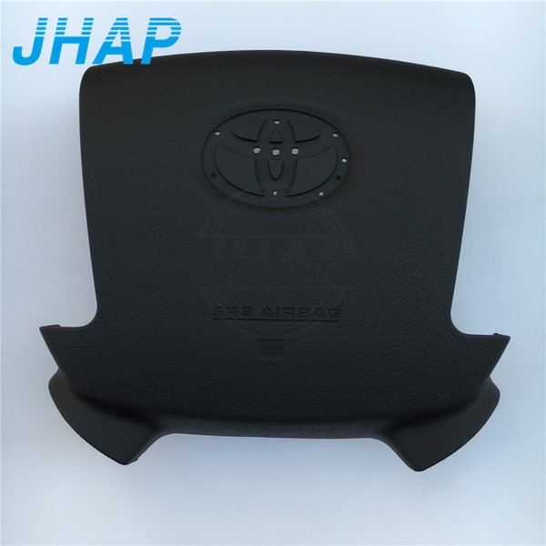 Car Driver SRS Airbag Covers For Land Cruiser 08-15 Steering Wheel Airbag Cover Black With Emblem 1pcs Free Shipping