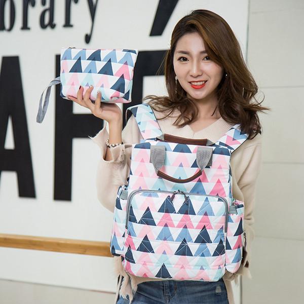 Women Travel Fashion Baby Bag Multifunction Mummy Bag Baby Diaper Bags Nappy Bags Baby Diaper Backpack Outdoor Bag RRA581