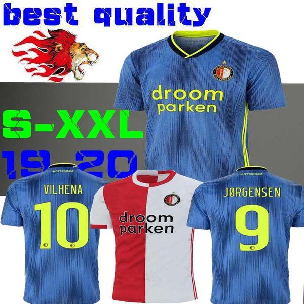 19 20 maillots de football Feyenoord à domicile 2019 11 LARSSON 32 V.PERSIE 19 BERGHUIS 10 CHEMISE EN JERSEY VILHENA 9