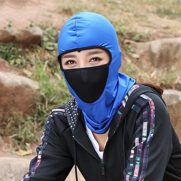 Black Full Face Mask Warmer Cycling Hood Outdoor Windproof Sunscreen Hood Bike Riding Shield Hat Caps Sunscreen Mask Head Covers