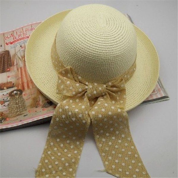 0d0f18fc4 Hot Sale Women Girl Big Bowknot Straw Hat Travel Panama Cap Beach Hat  Fedora Summer UV Hats New Fur Hats Men Hats From Dracaena, $77.04|  DHgate.Com