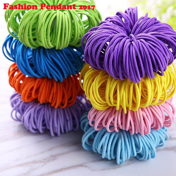 2019 Girls Elastic Hair Bands Ponytail Holder Rubber Bands Hair Accessories Women Multicolor Tie Gum free shipping
