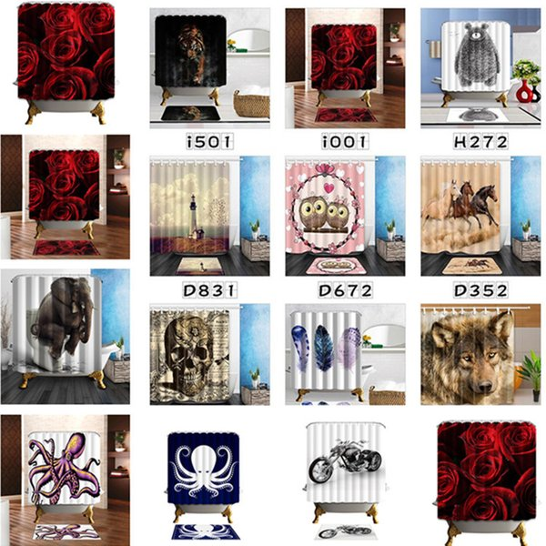 2019 Shower Curtain Valentine S Day White Swan Couple Heart Bathroom Shower Polyester Fabric Bath Curtain 180 180cm T1i1604 From Tina328 9 27