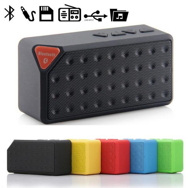 altavoz inalámbrico Bluetooth cuadrada caja de sonido USB Radio FM TF Promoción X3 cubo con Mic enceinte