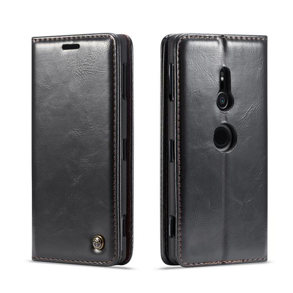 Lüks Deri Manyetik Çevir Cüzdan Kılıf Sony Xperia XZ2 Kompakt XZ3 Z3 Z4 Z5 Artı Kapak Çanta